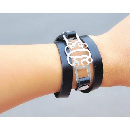 Stack Leather Bracelet