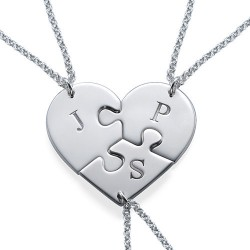 3 Pieces Puzzle Necklace