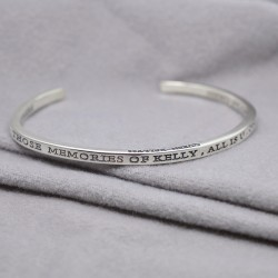 Engraved Cuff Bangle