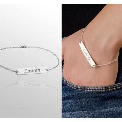 Engraved Name Bar Bracelet