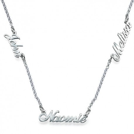 3 Nameplate Necklace
