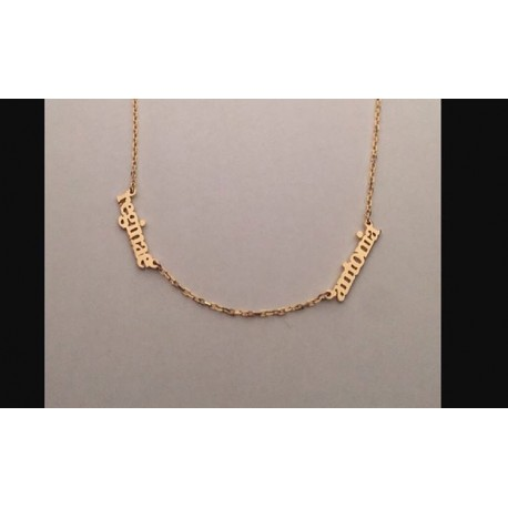 Sideway Necklace 2 Nameplate
