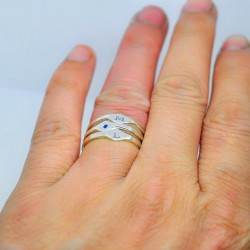 Set Stackable Initial Ring