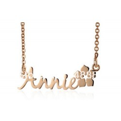 Plated Name Necklace with Flower