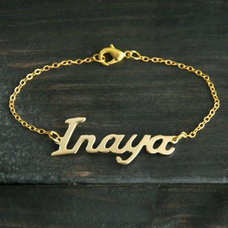 Alison Font Name Bracelet