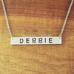 Cut Out Nameplate Pendant with Heart or Star Shape