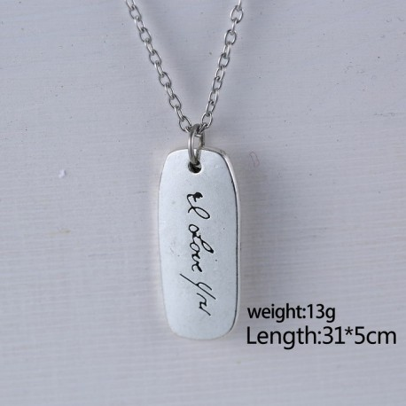 Handwritten Tag Necklace