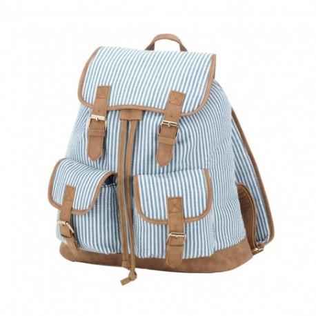 Seersucker Campus Backpack (Greek)